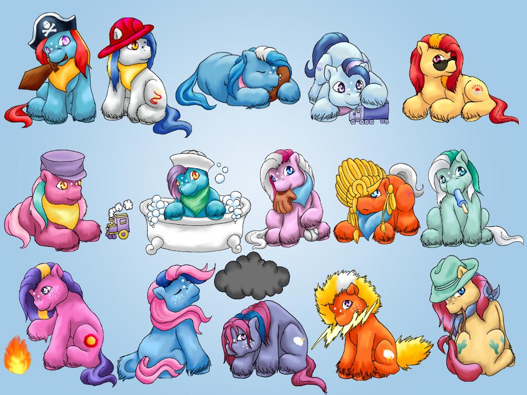 Baby Boy Ponies by ClemiKinkajou