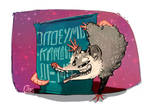 an opossum by killitwithcaps