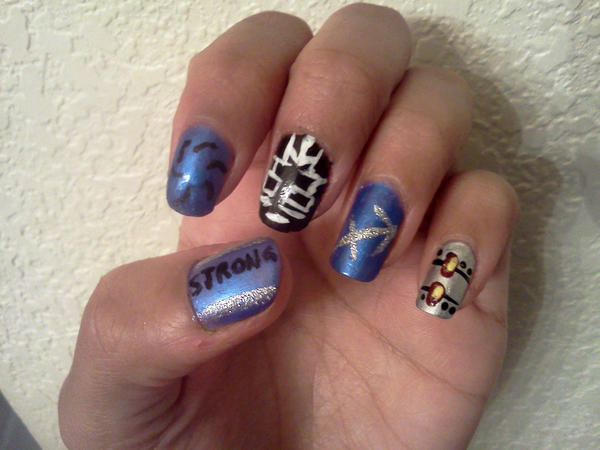 Homestuck Nails: Equius Zahhak by Khainsaw