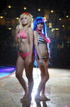 Panty and Stocking Anarchy Cosplay: Swimsuit Babes