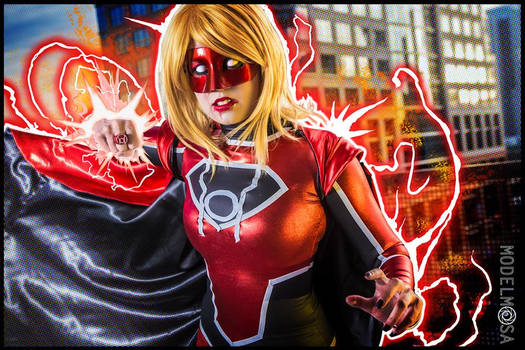 Red Lantern Supergirl Cosplay : PUNCH YOUR FACE