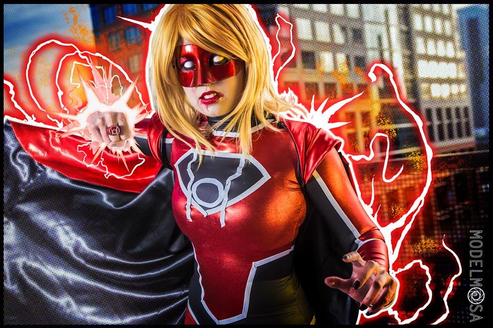 Red Lantern Supergirl Cosplay PUNCH YOUR FACE By Khainsaw