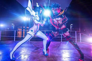 KLK Cosplay : Ryuko Matoi and Satsuki Kiryuin by Khainsaw