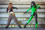 Shego vs Kim Possible Cosplay by Khainsaw