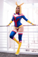 Rule 63 All-Might Cosplay Boku No Hero Academia by Khainsaw