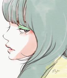 Green eye shadow