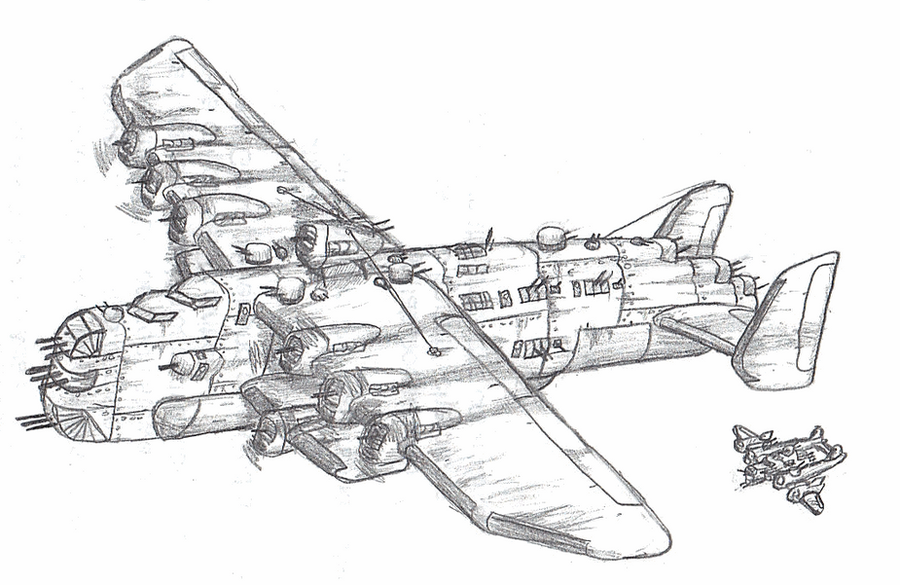 how to draw a b24