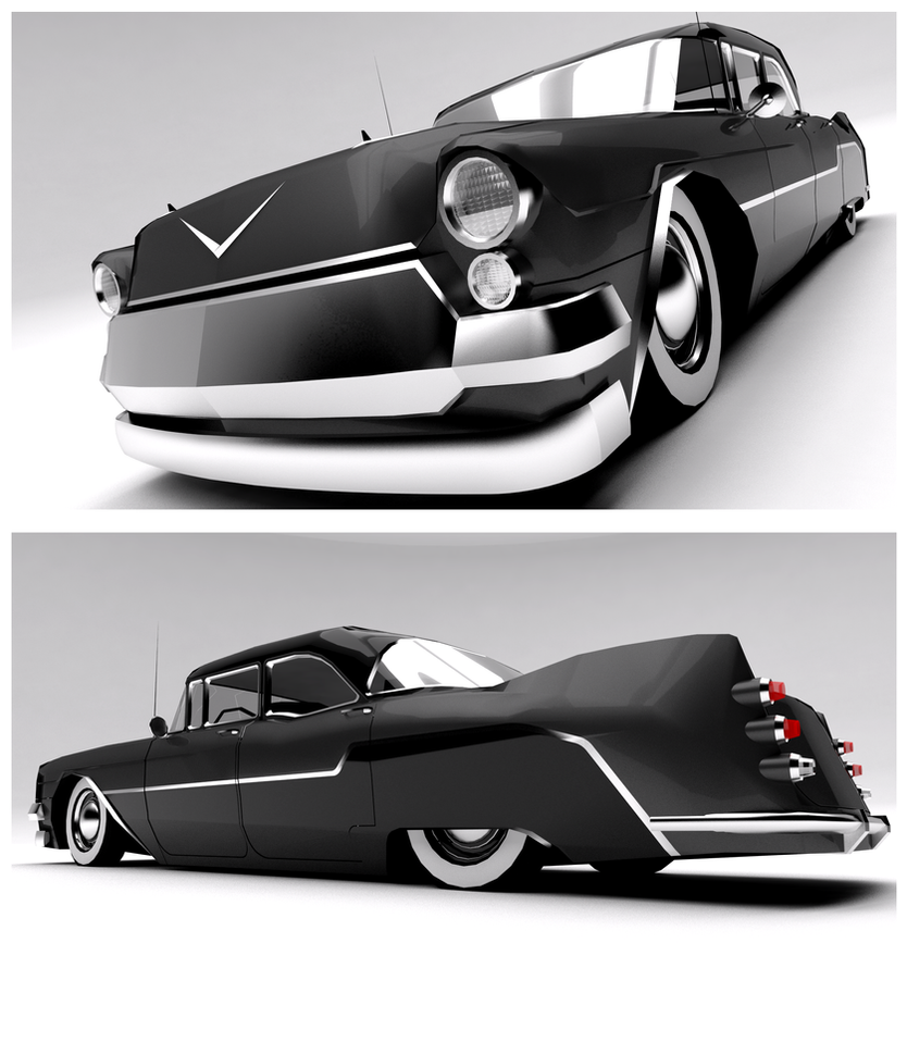 2013 Cadillac Cts V Wallpaper: 1956 Cadillac/Brougthome- Vilcea Sedan Custom By Pixel