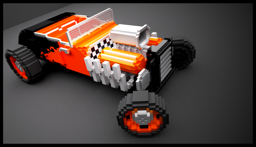 Pixel Hot Rod by Pixel-pencil