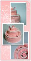 Crochet Cake by ItziBitziTinka