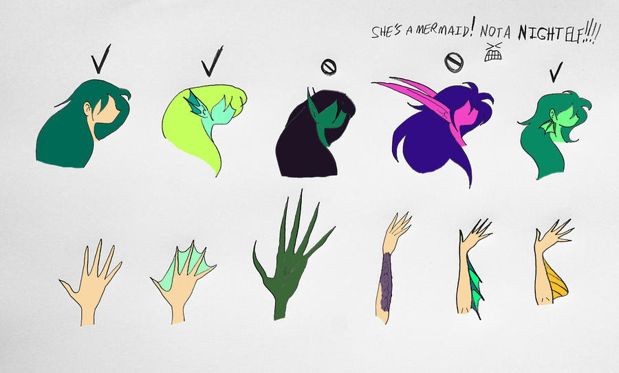 Guide to properly drawing mermaids Pg.5 by Jakegothicsnake ...
