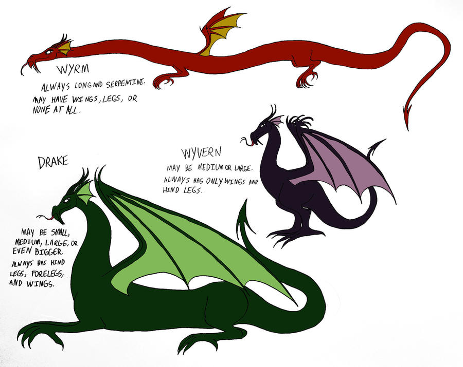 a description of the different types of dragons