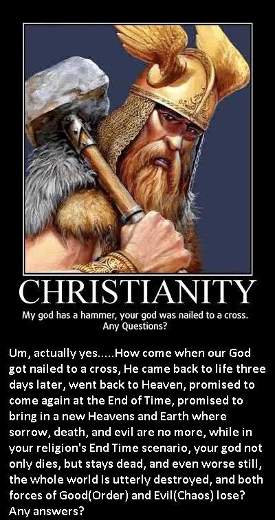 norse mythology vs christianity meme response by jakegothicsnake on