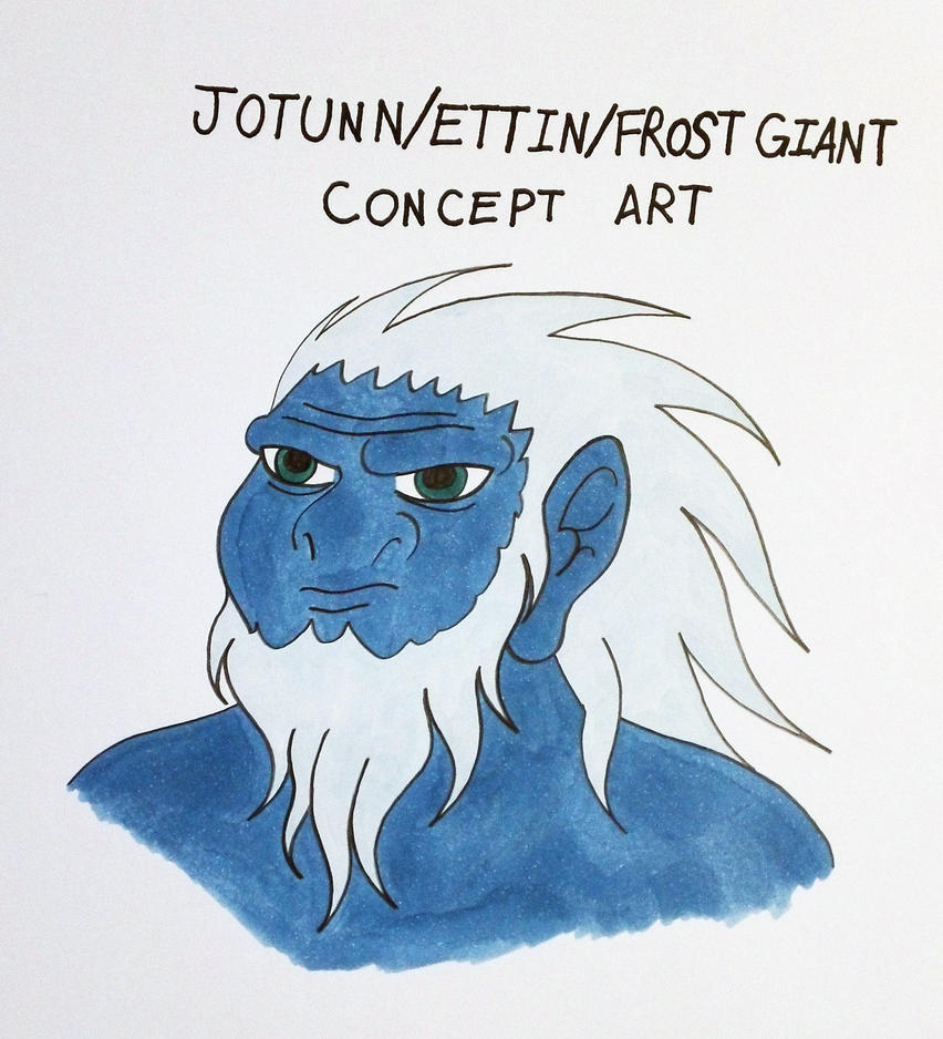 Jotunn/Ettin/Frost Giant Male Head Concept Art by Jakegothicsnake