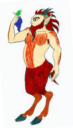 A Satyr About to Eat Grapes