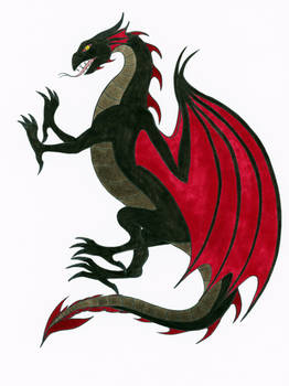Another Black and Red Dragon
