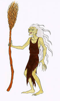 Hag/Witch with a broomstick