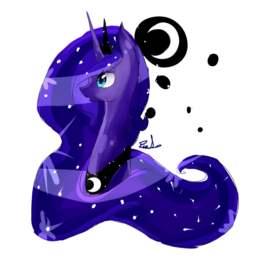 MLP Princess Portrait Series~ Princess Luna by vanilla-button
