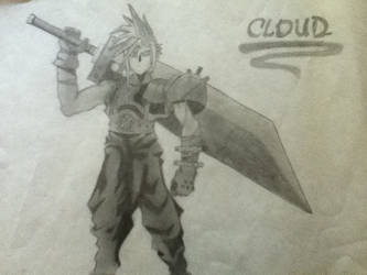 Final Fantasy 7 - Cloud by kimbo-butters