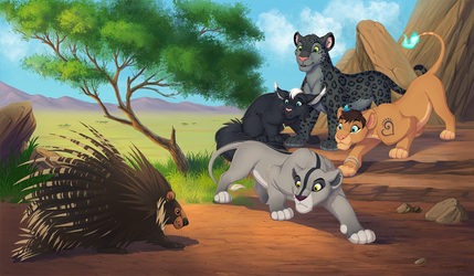YCH Curiosity and Cats by Twitterlu