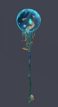 ADOPTED Coral Sphere Staff