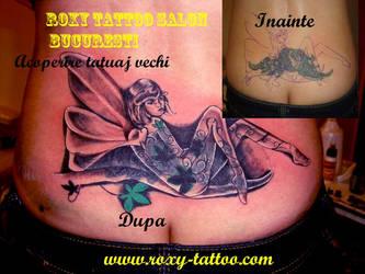 Acoperire Tatuaj Spate- Tribal by Salonroxytattoo