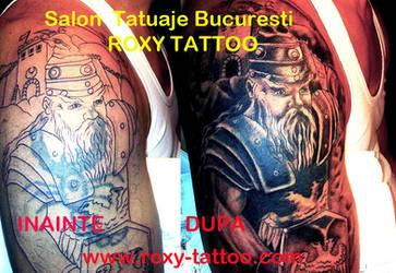 Acoperiretribal Celt Tatuaj by Salonroxytattoo