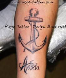 Ancora Tatuaje Scris