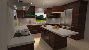Kitchen 3D Visualisation in 3D's Max