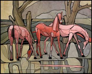 Visvaldis Horses 1954. by LiamHamilton
