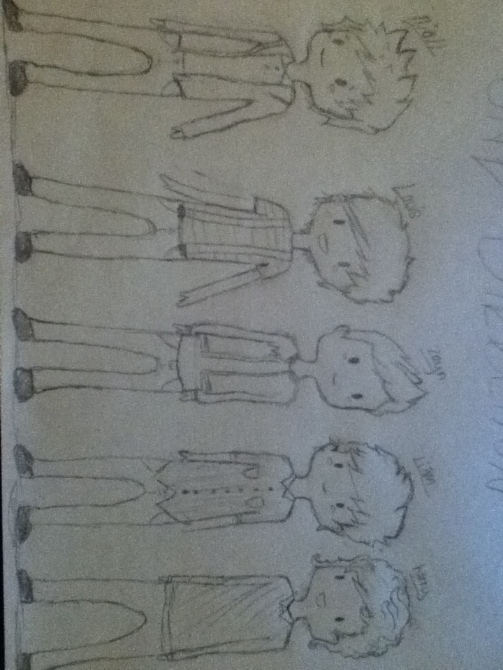 one direction chibis by PleaseDontEatMeh