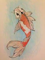 Koi fish painted by 4EverBecause