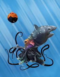 Shark Hoodie by LexHimself