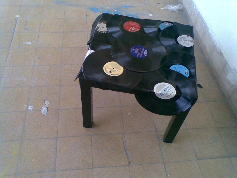 Vinyl Decoration Table : Vinyl records coffee table by ladyfgoodman on deviantart