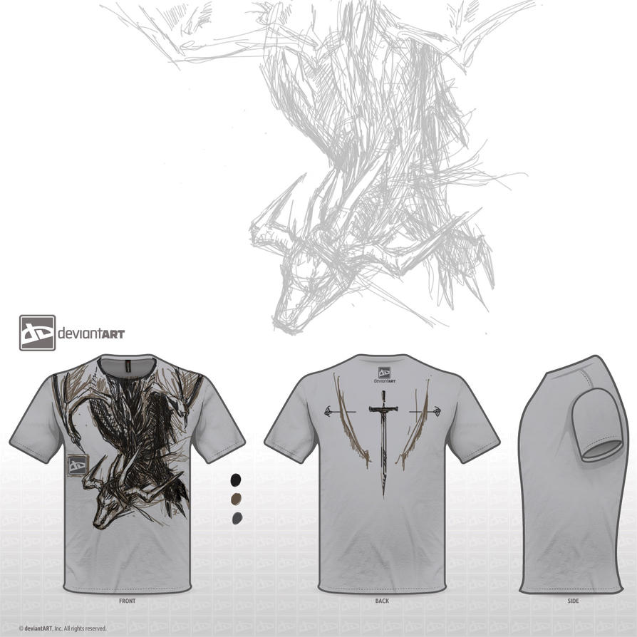T-shirt design - Dragon by Ryil