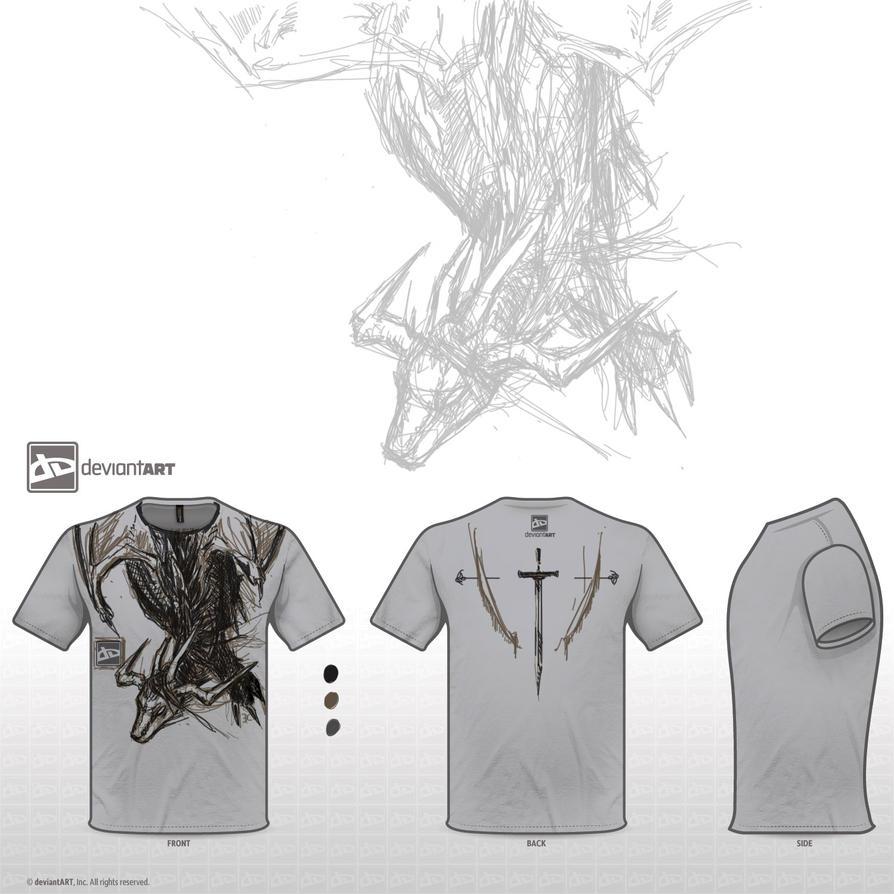 T-shirt design - Dragon by Ryil