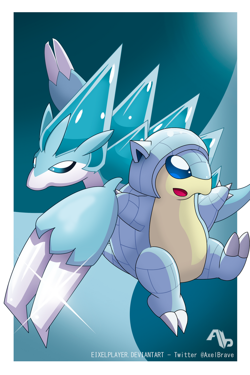 Ice Sandshrew and Ice Sandslash ~ Alola Forms by EixelPlayer on ...