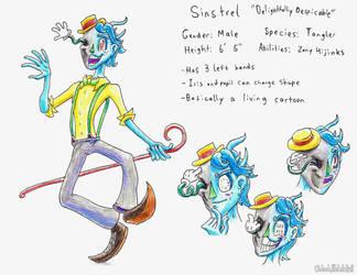 Tanglers: Sinstrel the Showman by OhLookItsAnArtist