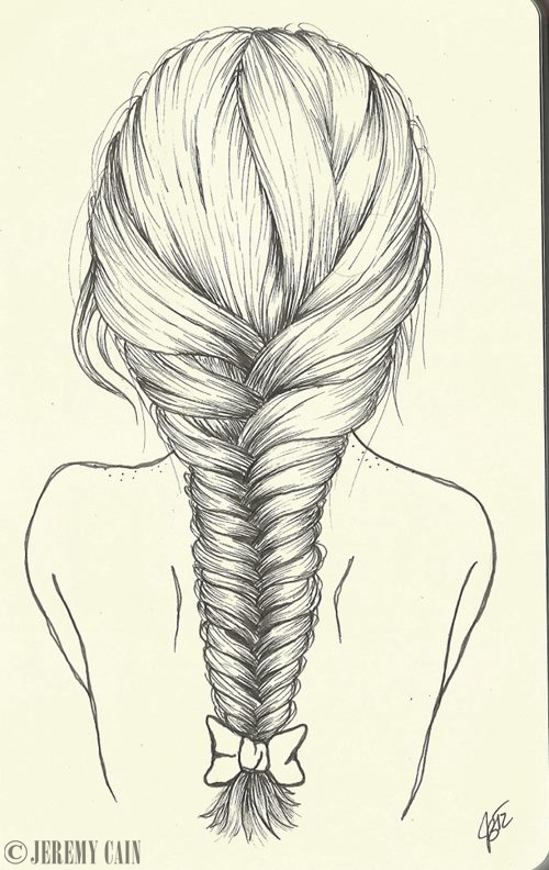 Line Drawing Hair : Fishtail braid by jeremycain on deviantart