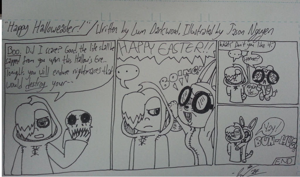 [FRIDAY MORN COMIX] - Happy Halloweaster by StarmanPhantom