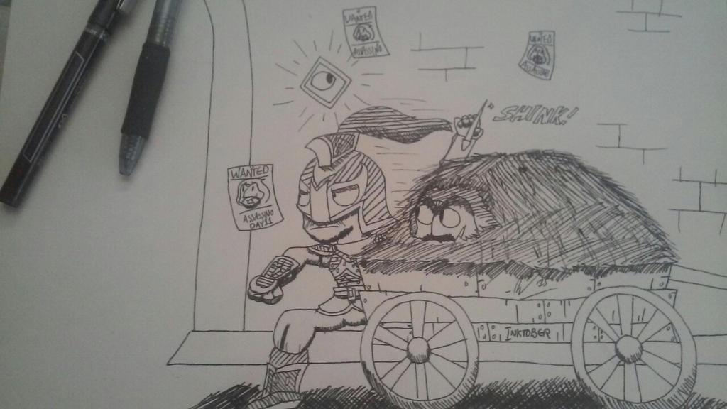 [INKTOBER] - Day 11 - 'Assassin Skillz' by StarmanPhantom