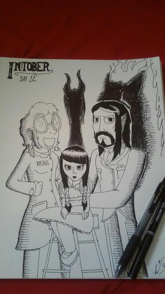 [INKTOBER] - Day 12 - 'Thatherton Family Portrait' by StarmanPhantom