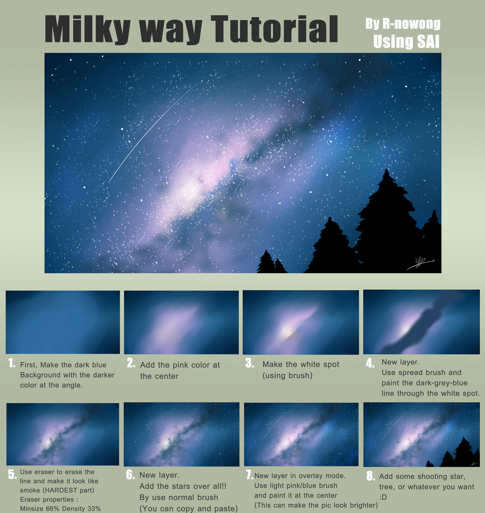Tutorial milky way by r nowong on deviantart tutorial milky way by r nowong baditri Images