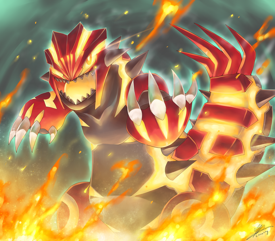 Pokemon : Primal Groudon by R-nowong on DeviantArt