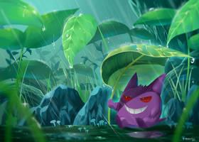 Pokemon : Rainy season Gengar by R-nowong