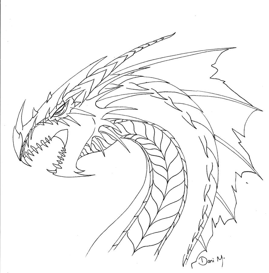 Line Art Dragon : Dragon line art by tiramora on deviantart