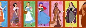 Disney princesses peasants