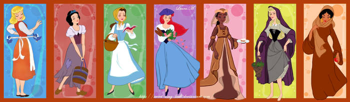 Disney princesses peasants by Sweet-Amy-Leah