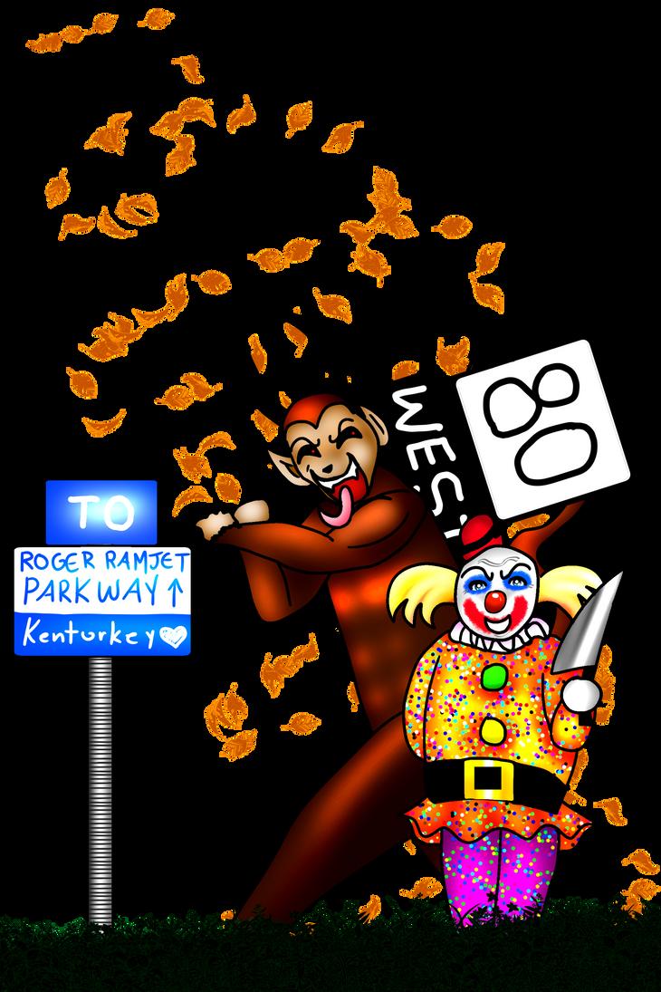 Krampus Hates Clowns!! by KorianderBullard