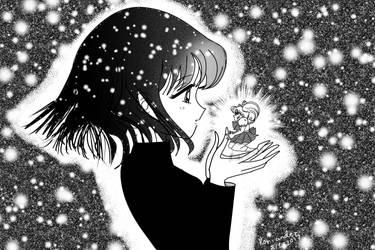 Hotaru Holding Chibiusa's Soul by KorianderBullard
